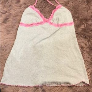 Pink sleep tank top